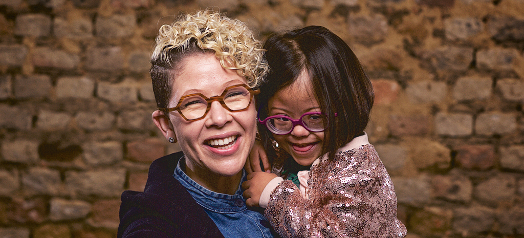 Mom and child with Down syndrome